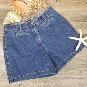 Vintage Tommy Hilfiger high waist denim shorts 8